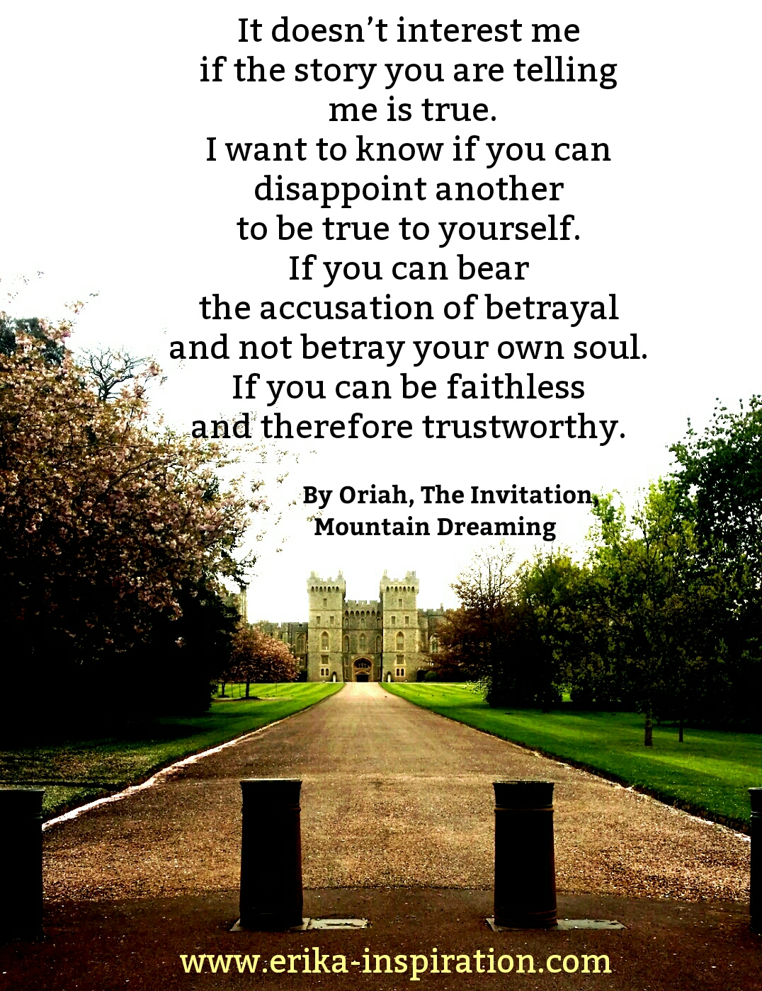 The Invitation by Oriah Mountain Dreamer Erika Brose