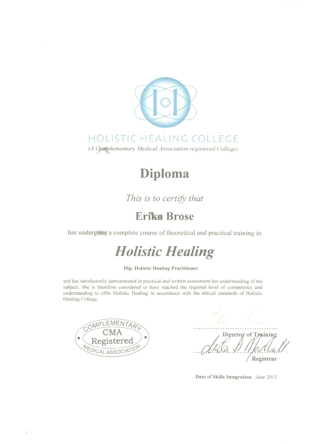 Qualifications Erika Brose